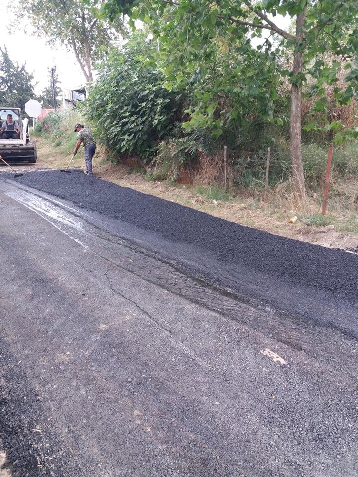 Σε εξέλιξη έργα αποκατάστασης του οδικού δικτύου στον Λαγκαδά (φωτό) , φωτογραφία-1